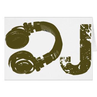 DJ enumera Tarjeta De Felicitación