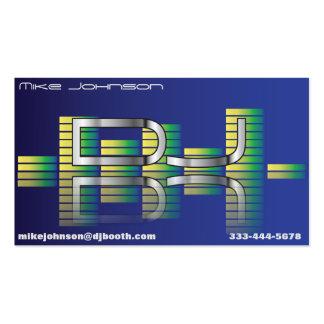 DJ Equalizer Business Cards