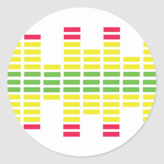 dj equalizer classic round sticker
