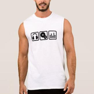 DJ Equalizer headphones vinyl Sleeveless Shirt