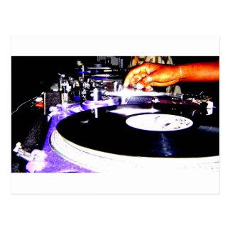 DJ Equipment Postcard