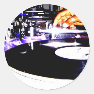 DJ Equipment Round Sticker