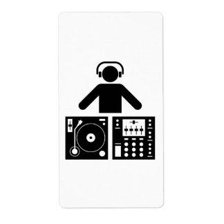DJ etiqueta Etiqueta De Envío