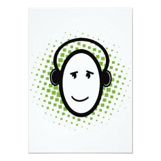 """DJ feliz Invitación 5"""" X 7"""""""