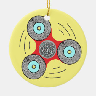 DJ Fidget Spinner Ceramic Ornament