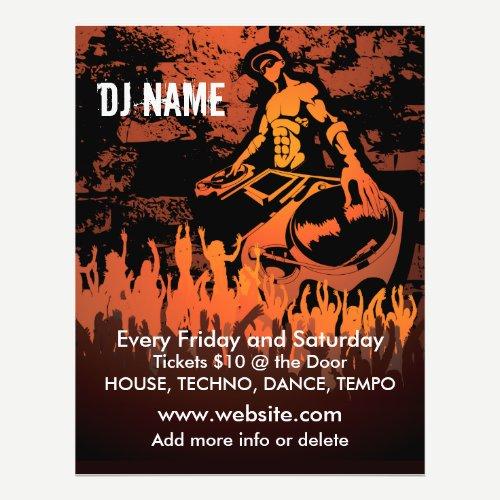 DJ Fiery Concert Music Flyer