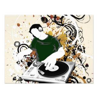 dj free vector graphic invitations