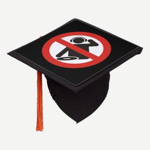 DJ free zone Graduation Cap Topper