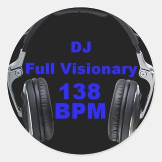 Dj Full Visionary 138 Bpm Shirt Classic Round Sticker