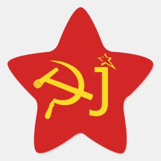Dj Funny USSR Symbol Star Stickers