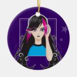 DJ Girl Christmas Tree Ornaments