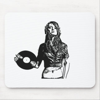 DJ girl Mouse Pad