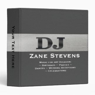"DJ Gray Stripe Silver Binder 1.5"""