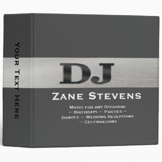 "DJ Gray Stripe Silver Binder 2"""