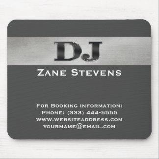 DJ Gray Stripe Silver Mouse Pad