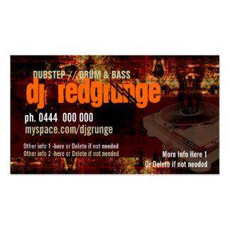 Dj Grunge Turntable Business card