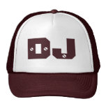 DJ Hat With Screwed Text Effect For Clubs