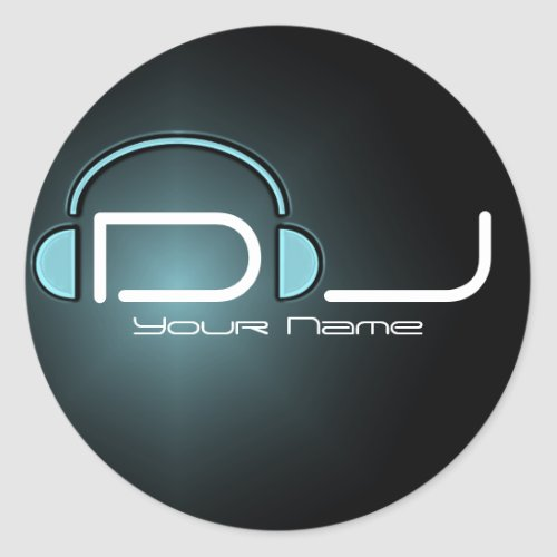 Dj headphone sticker