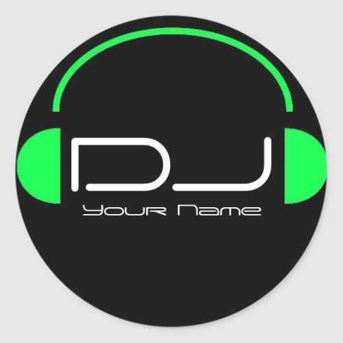 DJ Headphone Sticker