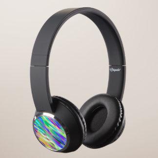DJ Headphones Colorful digital art splashing