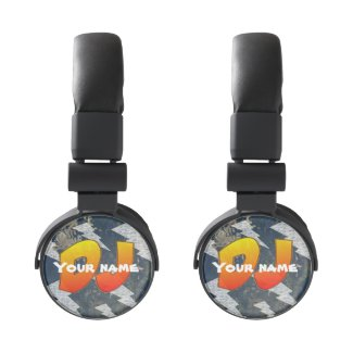 DJ Headphones, Customizable text Headphones
