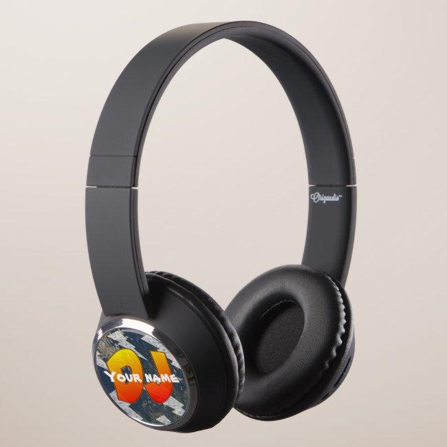 DJ Headphones, Customizable text