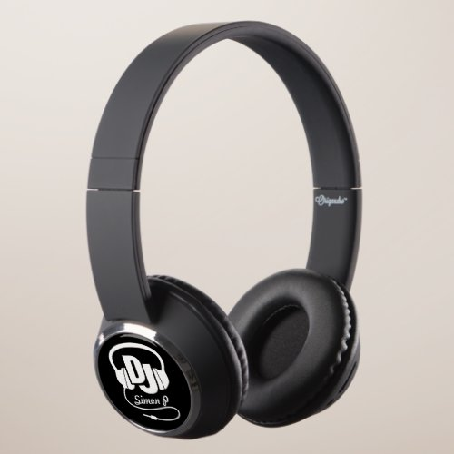 DJ headphones graphic custom name headphones