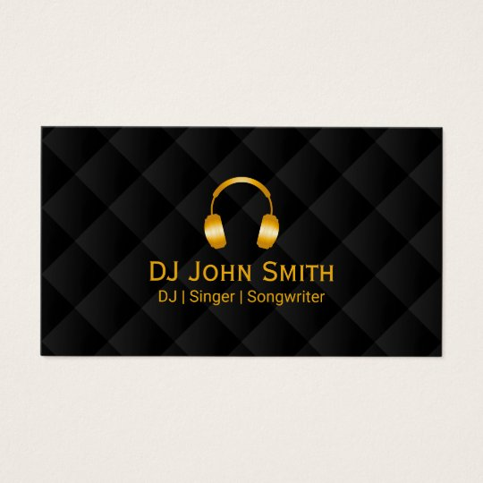 Dj headphones icon luxury black gold business card zazzle dj headphones icon luxury black gold business card reheart Choice Image