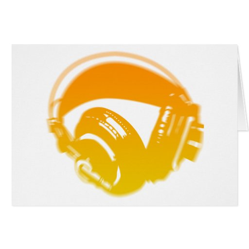 DJ Headphones - Music Disc Jockey DJing Loud Cards