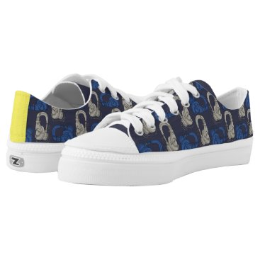 Beach Themed DJ headset Low-Top Sneakers