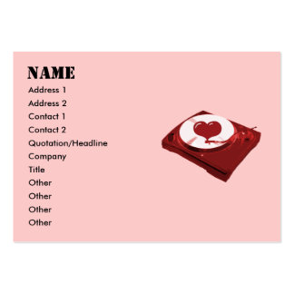 DJ Heart Turntable Business Cards