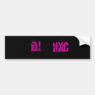 DJ HxC Bumper Sticker Car Bumper Sticker