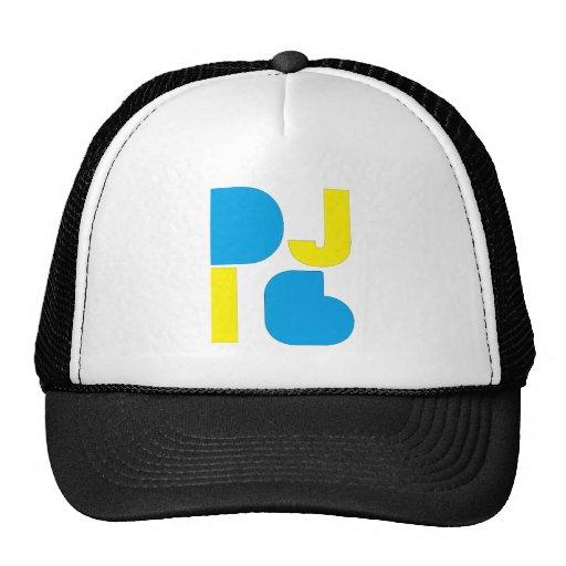 DJ i6 Blue/Yellow Logo 1 Trucker Hats