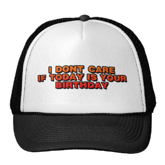 DJ I Don't Care If Today Is Your Birthday - music Mesh Hats