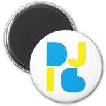 DJ imán azul/amarillo de i6 del logotipo 1