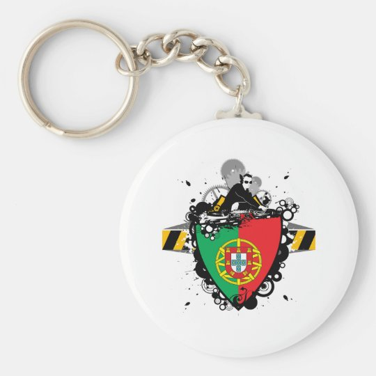 DJ in Portugal Keychain