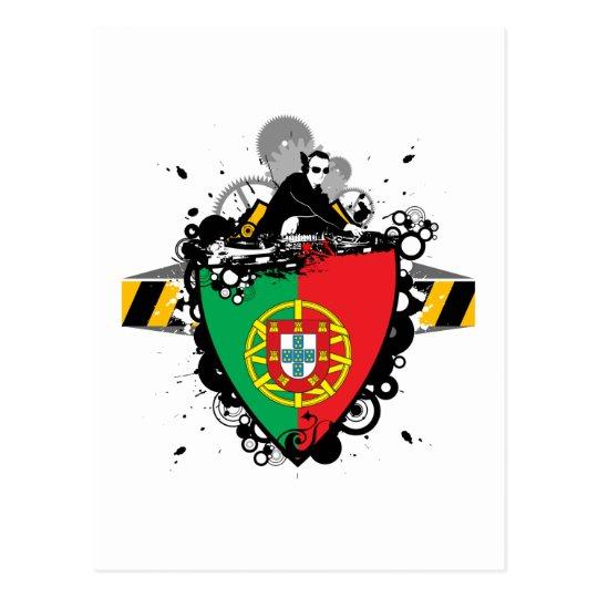 DJ in Portugal Postcard