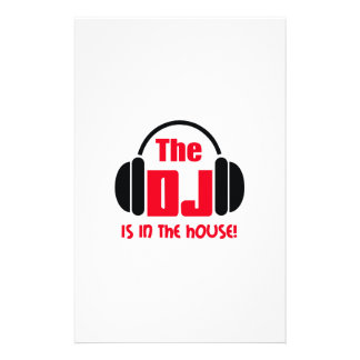 DJ IS IN THE HOUSE STATIONERY