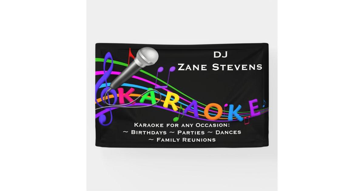 Dj Karaoke Banner Zazzle Com