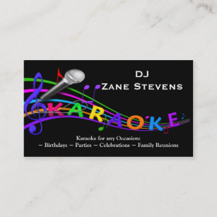 Dj business cards 1400 dj business card templates dj karaoke business card template flashek Images