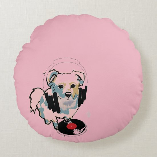 DJ Kato Round Pillow