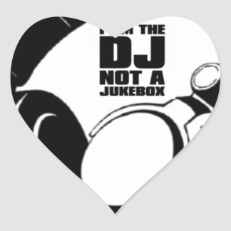 DJ KLASH-GEAR - DJ NO REQUESTS HEART STICKER