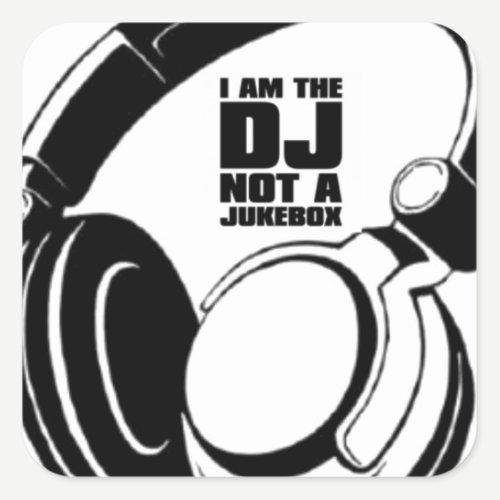 DJ KLASH-GEAR - DJ NO REQUESTS SQUARE STICKER