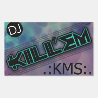 DJ les mata pegatina de Krew