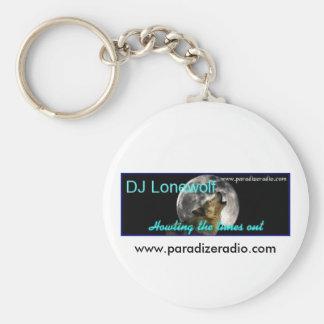 (DJ Lonewolf) llavero/llavero Llavero Redondo Tipo Pin