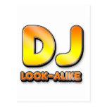 DJ Look A Like - Disc Jockey Music Turntable Postcards