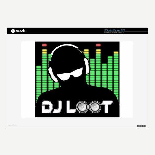 "DJ Loot Decals For 15"" Laptops"