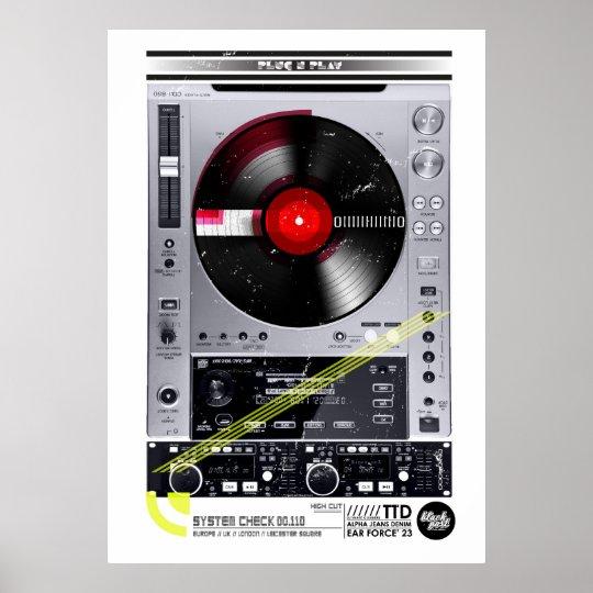DJ machine Poster