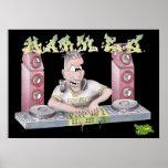 DJ mark e g graffiti cartoon print/poster