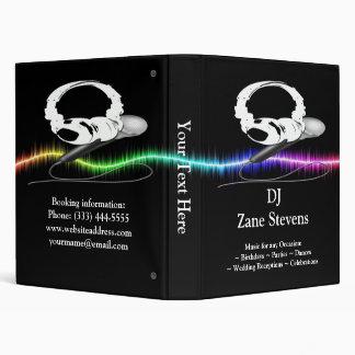 """DJ Microphone Headphones Binder 1"""""""